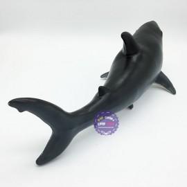Đồ chơi mô hình cá mập trắng bằng nhựa mềm có nhạc