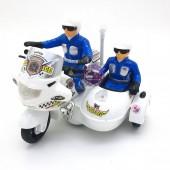 Hộp đồ chơi xe mô tô cảnh sát đôi có đèn nhạc 001B