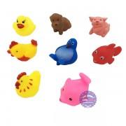 Bộ đồ chơi các loại thú chít 8 con túi lưới