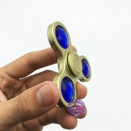 Hộp thiếc đồ chơi con quay Spinner 3 cánh gắn đá quý bằng sắt