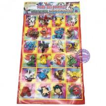 Vỉ đồ chơi mô hình Pokemon bằng nhựa 24 con (5cm)