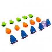 Bộ đồ chơi thú chít cá 15 con túi lưới 037-50