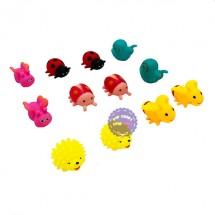Bộ đồ chơi thú chít bọ 12 con túi lưới 037-32
