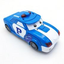 Hộp đồ chơi xe Robocar Poli biến hình thành Robot có đèn nhạc 0826