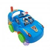 Đồ chơi xe ô tô cảnh sát mini chạy bằng dây cót