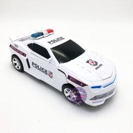 Hộp đồ chơi xe ô tô cảnh sát biến hình Robot có đèn nhạc 0906-37