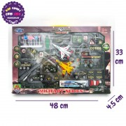 Hộp đồ chơi xe máy bay công trình quân sự bằng sắt 40 chi tiết MZ837