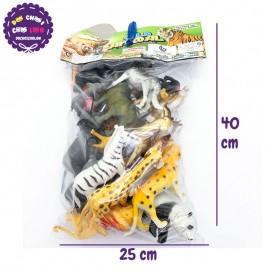 Bộ đồ chơi thú rừng 24 con bằng nhựa Wild Animal 624