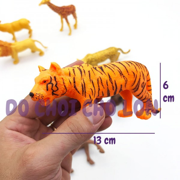 Bộ 8 con thú rừng: sư tử,hươu,ngựa vằn Jungle Animal 2A282