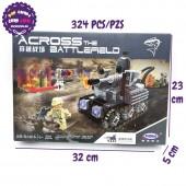 Hộp đồ chơi lắp ráp xe tăng Across Battlefield 324 miếng XB06016
