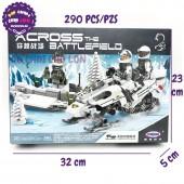 Hộp đồ chơi lắp ráp xe trượt tuyết Across Battlefield 290 miếng XB06009