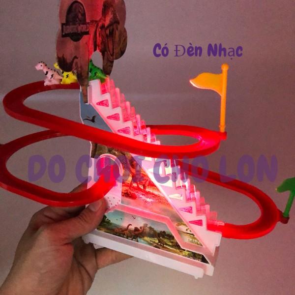 Hộp đồ chơi khủng long leo thang 2 tầng có đèn nhạc1112-2