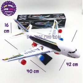 Đồ chơi máy bay dân dụng có chân trống chạy pin đèn nhạc 20811B