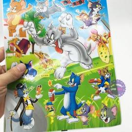 Hình dán sticker hoạt hình 10 tấm