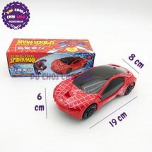 Hộp đồ chơi xe hơi người nhện mui đèn 3D chạy pin ZX278