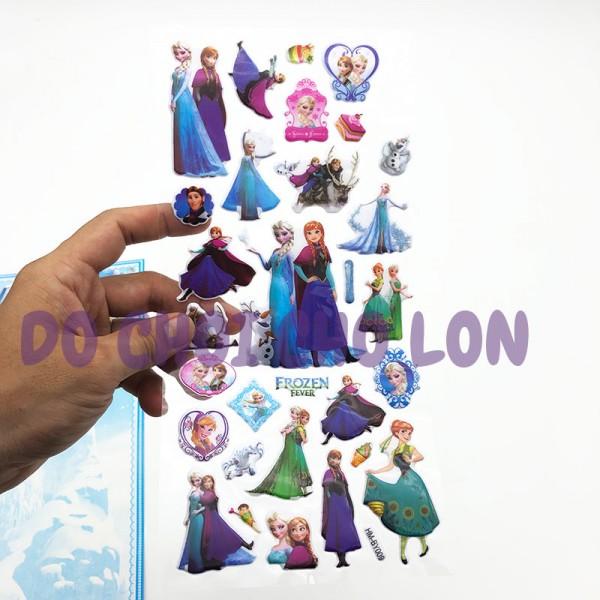 Hình dán sticker nổi 3D hình công chúa Frozen