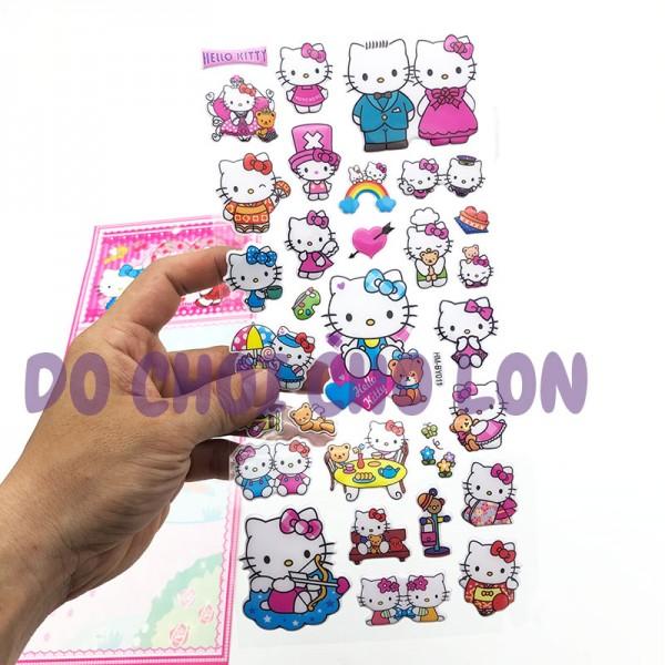 Hình dán sticker nổi 3D hình mèo Kitty
