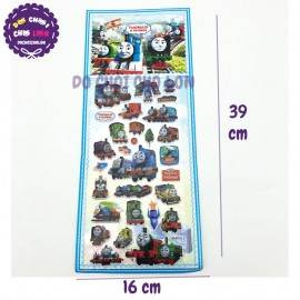Hình dán sticker nổi 3D hình xe lửa Thomas