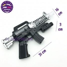 Đồ chơi súng máy TRẮNG ĐEN có đèn LASER nhạc 29-938C