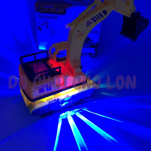 Hộp đồ chơi xe cào đất bánh đèn chạy pin có nhạc 9035A