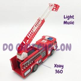 Hộp đồ chơi xe thang cứu hỏa chạy pin có đèn nhạc TX-823