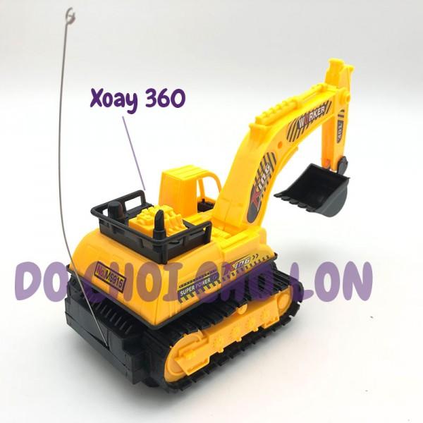 Hộp đồ chơi xe cào đất điều khiển từ xa 2 kênh chạy pin MS915