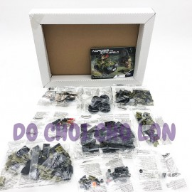 Hộp đồ chơi lắp ráp xe JEEP Across Battlefield 347 miếng XB06010