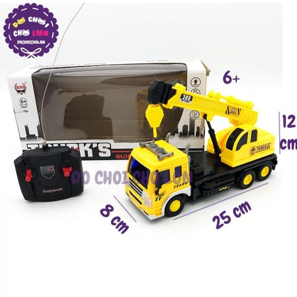Hộp đồ chơi xe cẩu móc điều khiển từ xa có đèn 958-7