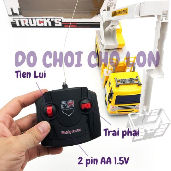 Hộp đồ chơi xe thang điều khiển từ xa có đèn 958-6