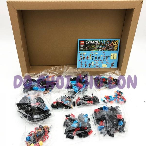 Hộp đồ chơi lắp ráp Ninja rồng 2 đầu ĐỎ XANH ZIMO 430 miếng ZM3080