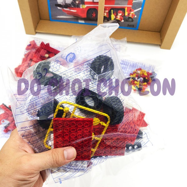 Hộp đồ chơi lắp ráp xe cứu hỏa thang COGO 424 miếng 3615