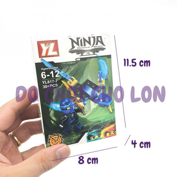 Bộ 8 hộp đồ chơi lắp ráp Ninja 2 in 1 YL817