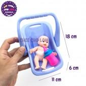 Bộ đồ chơi giỏ xách em bé bằng nhựa Bích Phương 62