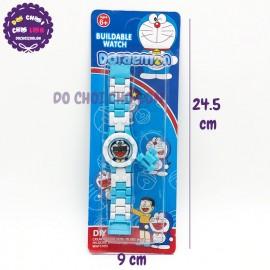 Vỉ đồng hồ mắt xích cho bé hình Doraemon bằng nhựa 777-145