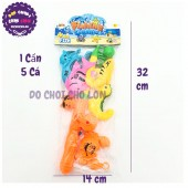 Bộ đồ chơi câu cá nam châm dưới nước 1 cần 5 cá 6801-01