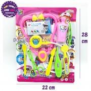 Vỉ đồ chơi bác sĩ 9 món dụng cụ y tế  669-010