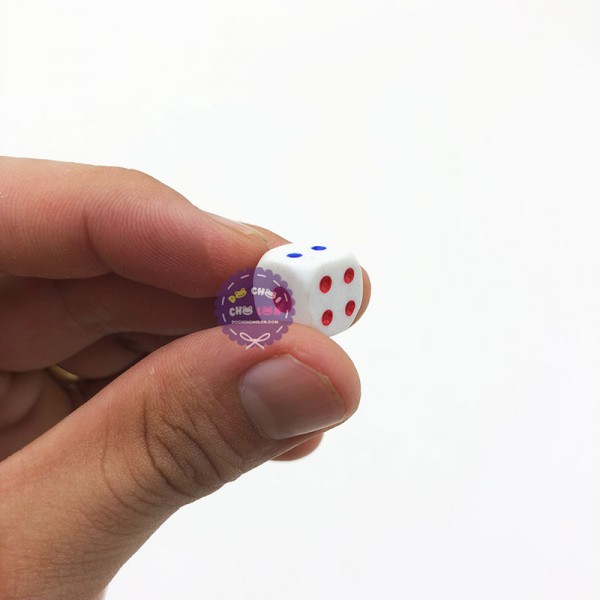 Bộ 10 hột xúc xắc lắc xí ngầu 10mm