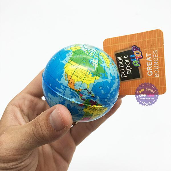 Đồ chơi banh tưng mềm hình quả địa cầu