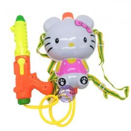 Bộ đồ chơi súng thụt nước & ba lô dự trữ nước mèo Hello Kitty