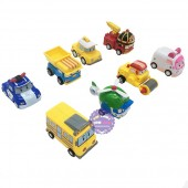 Hộp đồ chơi 8 xe ô tô Robocar Poli chạy trớn