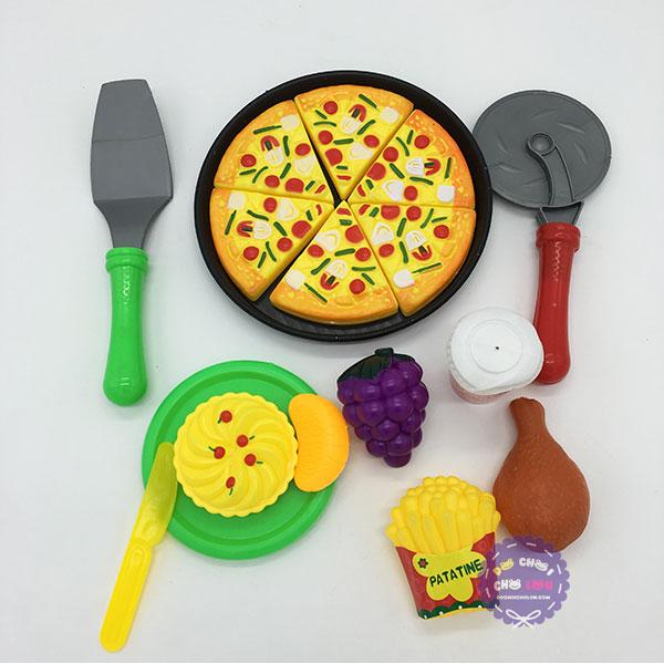 Vỉ đồ chơi làm bánh Pizza Fast Food Playset