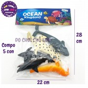 Bộ 5 con sinh vật biển: hải cẩu, cá heo Ocean Kingdom 999H-03