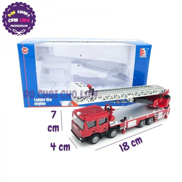Xe mô hình cứu hỏa THANG bằng sắt 1:50 KDW 625012