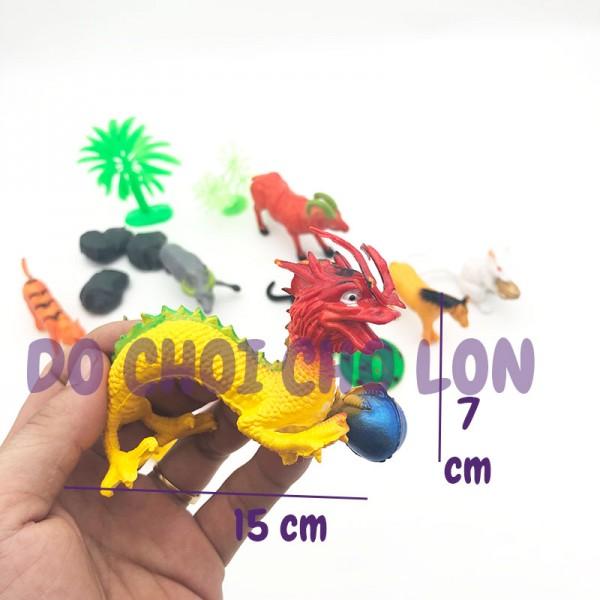 Bộ đồ chơi 12 con giáp ĐẠI bằng nhựa Thành Lộc T839