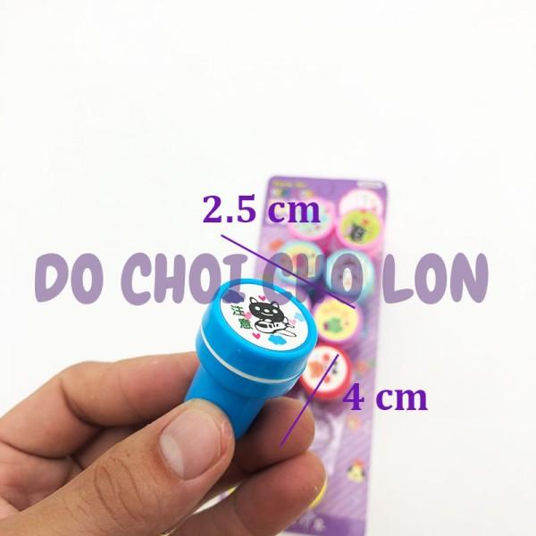 Con dấu đồ chơi cho bé in hình hoạt hình bằng nhựa