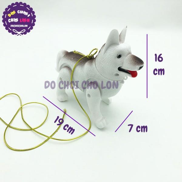 Đồ chơi chú chó biết đi có dây dắt dùng pin đèn nhạc 3188-33