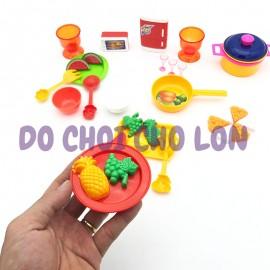 Bộ đồ chơi nấu ăn nhà bếp tủ lạnh 26 món bằng nhựa 2018