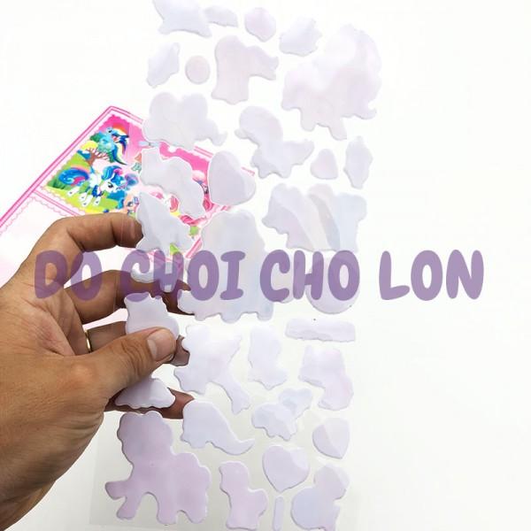 Hình dán sticker nổi 3D hình ngựa PONY