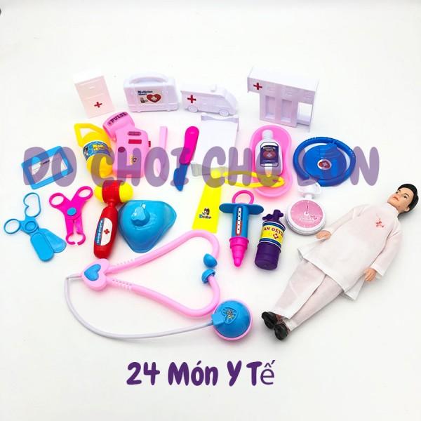 Bộ đồ chơi làm bác sĩ 24 món dụng cụ y tế LT506-3T