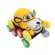 Hộp đồ chơi xe chó nhào lộn 12 bánh lật chạy pin